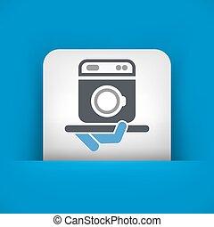 machine lavage hairdresser services h tel icon clipart vectoris recherchez. Black Bedroom Furniture Sets. Home Design Ideas