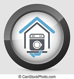 machine lavage hairdresser services h tel icon clipart vectoris recherchez. Black Bedroom Furniture Sets. Home Design Ideas