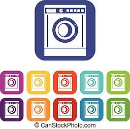 bleu machine ensemble lavage ic nes bleu lavage clipart vectoriel rechercher. Black Bedroom Furniture Sets. Home Design Ideas