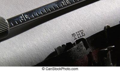 machine écrire, 2, fin, clips.