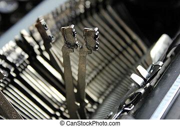 machine écrire