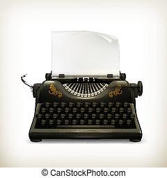 machine écrire, vecteur