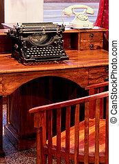 machine écrire, vendange
