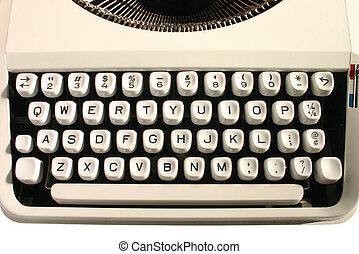 machine écrire, vieux, keys.