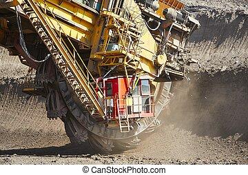 machine, énorme, exploitation minière