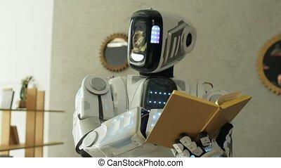 machine, étudier, instruit, intérieur, robotique