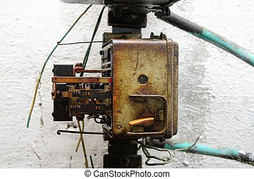 machine, ancien, partie