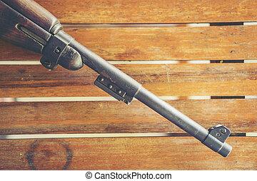 machine, ancien, range., balle, point, court, pointu, foyer, fusil, war., seconde, sélectif, regarde, vide, mondiale, doux, lance