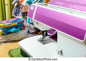 machine, atelier, couture, couturière