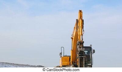 machine, bâtiment, hydrohammer, site