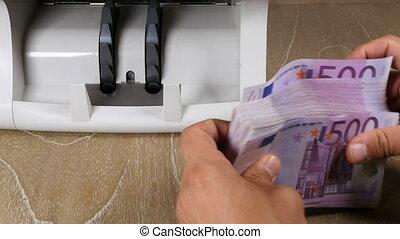 machine., billet banque, argent, compteur, espèces, bills., ...
