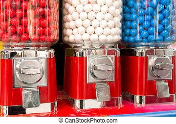 machine, bubble-gum