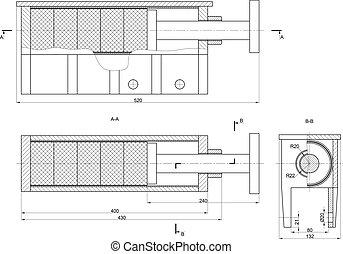 machine-building, desenho