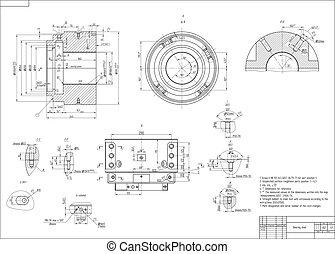 machine-building, zeichnung