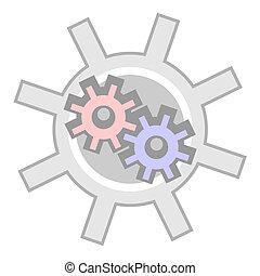 Machine button
