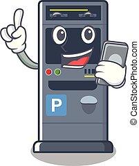 machine, caractère, vente, téléphone, stationnement