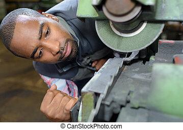 machine, cassé, inspection
