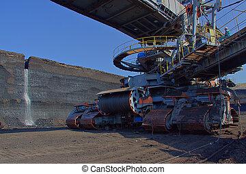 machine, charbon, châssis, chargeur