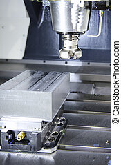 machine, cnc, moudre