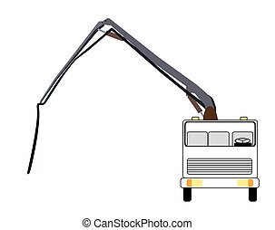 Machine Concrete Pump. Vector Illustration.