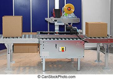 machine, conditionnement, boîtes