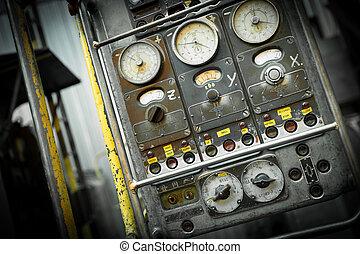 machine, contrôle, industrie, panneau