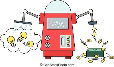Machine converting ideas to money