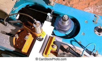 Machine cut plastic profile