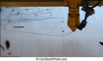 machine, découpage, laser
