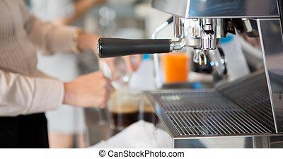 machine, fabricant café