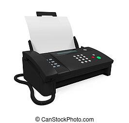 machine, fax papier