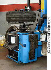 machine, fixation, outillage, pneu