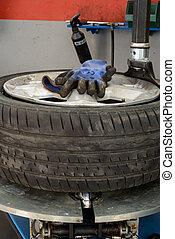 machine, fixer, pneu