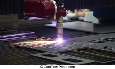 Machine for constant metal laser cutting, metal processing...