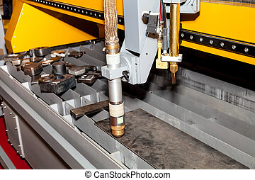 Machine for constant metal laser cutting