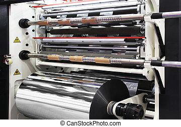 Machine for cutting rolls
