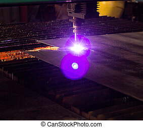 Machine for modern automatic plasma laser cutting of metals, plasma cutting with laser and laser, manufacture