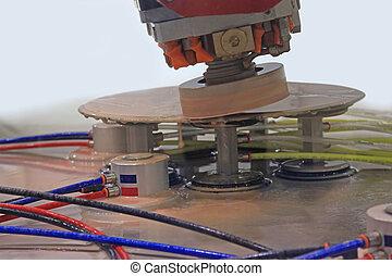 machine for polishing