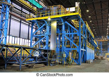 machine for rolling steel sheet