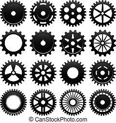 Machine Gear Wheel Cogwheel - 16 specially designed cogwheel...