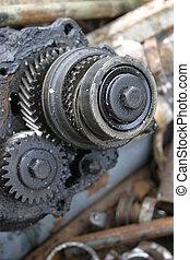 Machine gears - Engine part - cog wheels.