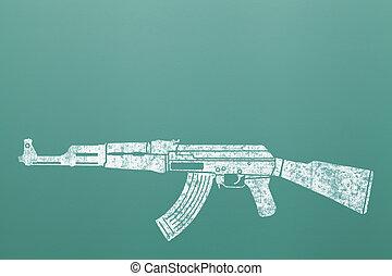 Machine Gun In School
