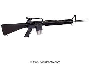 Machine gun isolated over white with a clipping path