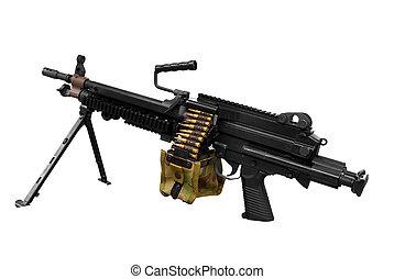 machine-gun isolated