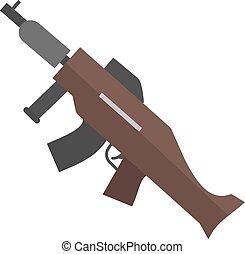 Machine Gun - Machine, gun, war, icon vector image. Can also...