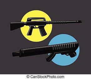 Machine Guns Vector