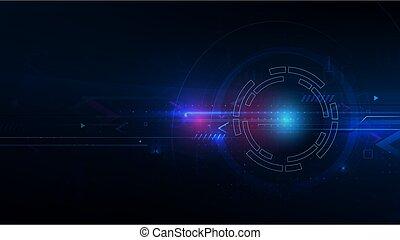 machine, horloge, technologie, concept abstrait, temps, futuriste