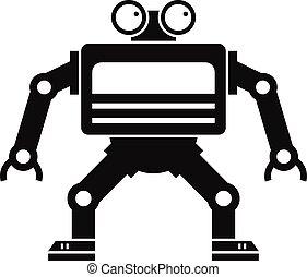 Machine icon, simple style