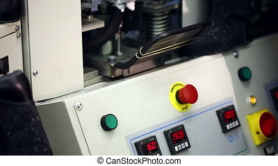 Machine in workshop production of footwear - View of machine...
