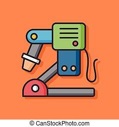 machine, indusry, vecteur, icône